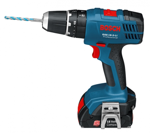 Bosch Professional GSB18-2-LI 18V Cordless Combi Drill with 2 x 1.3Ah.