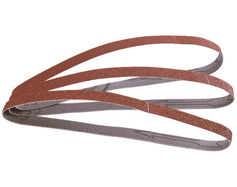 wolfcraft 3 Gewebe-Schleifbänder Korn 80 13 x 457 WCr-1725000