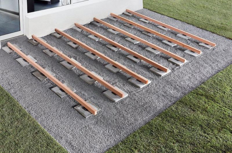 wolfcraft auflagepads f r terrassenbau 90x90x10mm 2. Black Bedroom Furniture Sets. Home Design Ideas