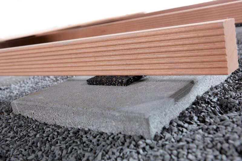 wolfcraft auflagepads f r terrassenbau 90x90x10mm 3. Black Bedroom Furniture Sets. Home Design Ideas