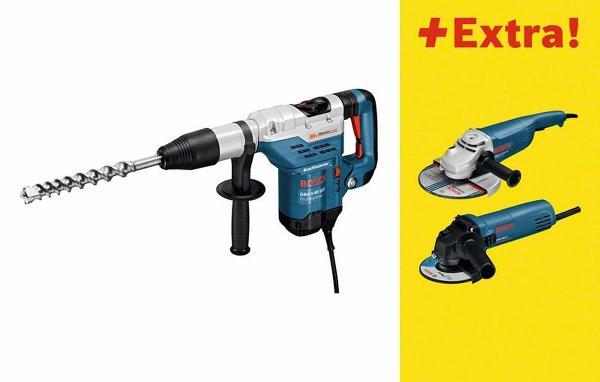 Bosch Bohrhammer mit SDS-max GBH 5-40 DCE, mit Winkelschleifer GWS 850 C,GWS 22-230 JH 0615990H73